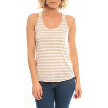 Textiel Dames Mouwloze tops So Charlotte Oversize tank Top Stripe T36-371-00 Blanc Wit