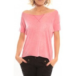 Textiel Dames T-shirts korte mouwen So Charlotte Tight short sleeves Tee all snake T53-406-00 Rose Roze