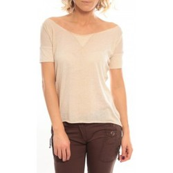 Textiel Dames T-shirts korte mouwen So Charlotte Tight short sleeves Tee all snake T53-406-00 Beige Beige