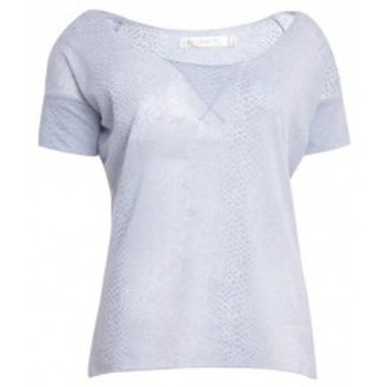 Textiel Dames T-shirts korte mouwen So Charlotte Tight short sleeves Tee all snake T53-406-00 Gris Grijs