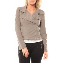Textiel Dames Jacks / Blazers Sweet Company Veste Zip Atomika B Taupe Bruin
