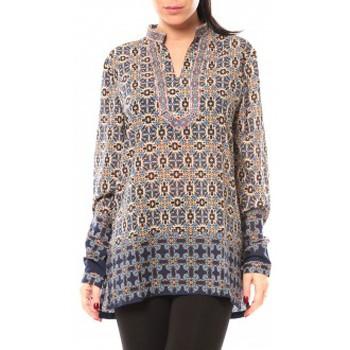 Textiel Dames Overhemden Dress Code Chemisier SHK F323 Bleu Blauw