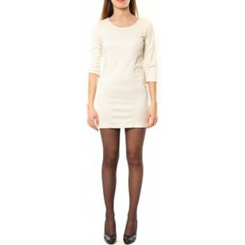 Textiel Dames Korte jurken Dress Code Robe 125  Noemie Blanc Wit