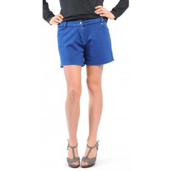 Textiel Dames Korte broeken / Bermuda's American Vintage SHORT KEY131 INDIGO Blauw