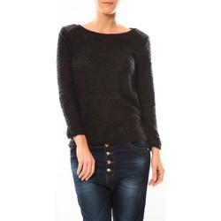 Textiel Dames Truien De Fil En Aiguille Pull 1422 Noir Zwart