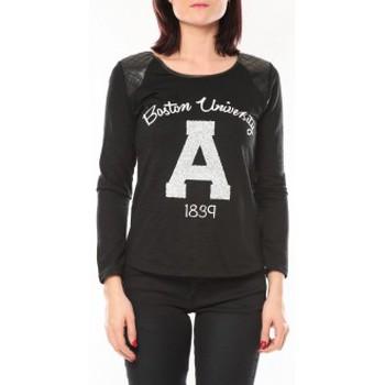 Textiel Dames Truien De Fil En Aiguille Pull E1325 Noir Zwart