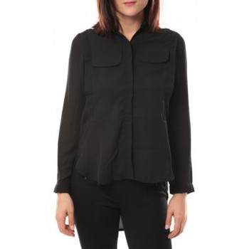 Textiel Dames Overhemden By La Vitrine Chemise Eloise 285 Noir Zwart