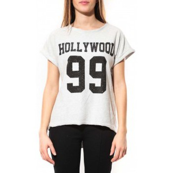 Textiel Dames T-shirts korte mouwen By La Vitrine Tee Shirt Hollywood 99 Blanc Wit