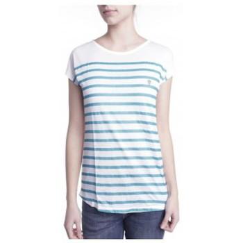 Textiel Dames T-shirts korte mouwen Little Marcel T-shirt Doldi Bleu Turquoise Blauw