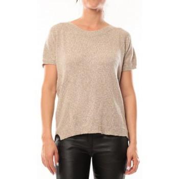 Textiel Dames T-shirts korte mouwen By La Vitrine T-Shirt S13010 Taupe Bruin