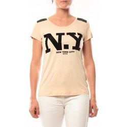Textiel Dames T-shirts korte mouwen Dress Code T-Shirt Love Look NY 1660 Beige Beige
