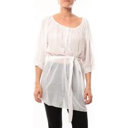 Textiel Dames Tunieken De Fil En Aiguille Robe JL Blanc Wit