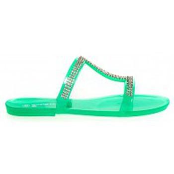 Schoenen Dames Leren slippers Ilario Ferucci Mules Ursina Uziel Vert Groen