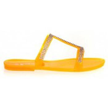 Schoenen Dames Leren slippers Ilario Ferucci Mules Ursina Uziel Orange Oranje