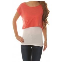 Textiel Dames Tops / Blousjes Vero Moda Shorty Wide Top Roze