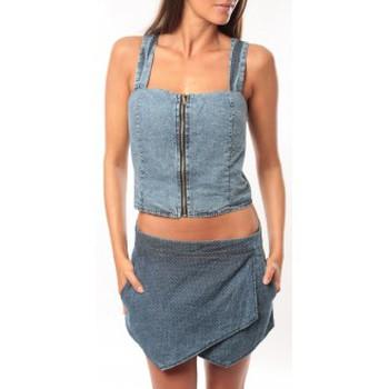 Textiel Dames Mouwloze tops Dress Code Bustier Saxx Bleu Blauw