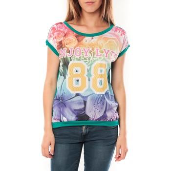 Textiel Dames T-shirts korte mouwen Tcqb T-shirt 88 Vert Groen