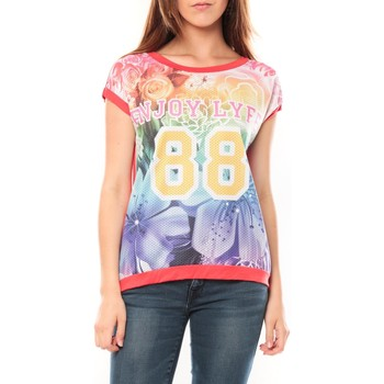Textiel Dames T-shirts korte mouwen Tcqb T-shirt 88 Rouge Rood