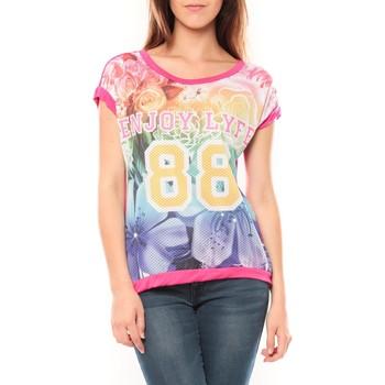 Textiel Dames T-shirts korte mouwen Tcqb T-shirt 88 Rose Roze