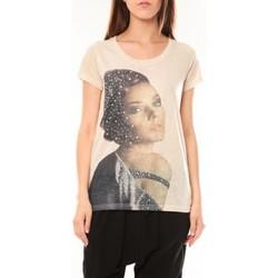 Textiel Dames T-shirts korte mouwen Tcqb Tee shirt Y-0008 Beige Beige