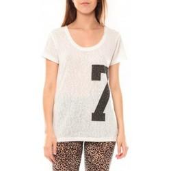 Textiel Dames T-shirts korte mouwen Tcqb Tee shirt SL1601 Blanc Wit