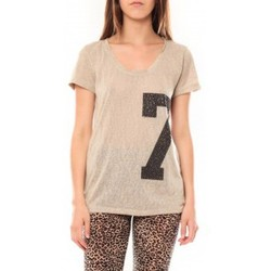 Textiel Dames T-shirts korte mouwen Tcqb Tee shirt SL1601 Beige Beige