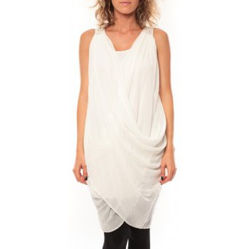 Textiel Dames Jurken By La Vitrine ROBE Blakie SL Short Dress  Blanc Wit
