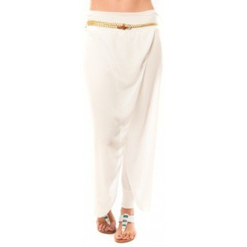 Textiel Dames Korte broeken Dress Code Pantalon O.D Fashion Blanc Wit