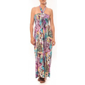 Textiel Dames Lange jurken Nina Rocca Robe Sylvia F587 Violet Violet