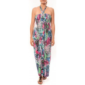 Textiel Dames Lange jurken Nina Rocca Robe Sylvia F587 Bleu Blauw