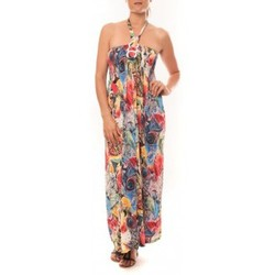 Textiel Dames Lange jurken Nina Rocca Robe Sylvia F587 Rose Roze