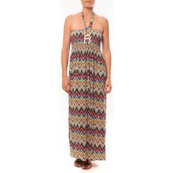 Textiel Dames Lange jurken By La Vitrine Robe Sylvia F594 Rouge Rood