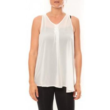 Textiel Dames Mouwloze tops De Fil En Aiguille Débardeur may&co 882 Blanc Wit