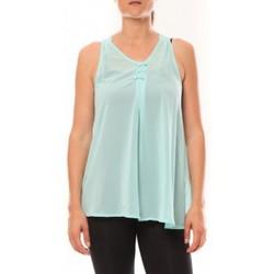 Textiel Dames Mouwloze tops De Fil En Aiguille Débardeur may&co 882 Turquoise Blauw