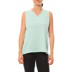 Textiel Dames Mouwloze tops De Fil En Aiguille Débardeur Voyelle L147 Turquoise Blauw