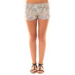 Textiel Dames Korte broeken / Bermuda's De Fil En Aiguille Short Victoria & Karl Gris Grijs