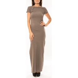 Textiel Dames Lange jurken Sweet Company Robe longue Fashion Beige Beige