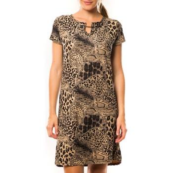 Textiel Dames Korte jurken Nina Rocca Robe Z-305 Beige Beige
