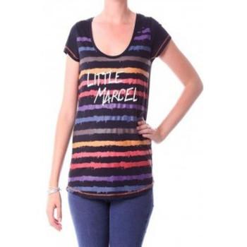 Textiel Dames T-shirts met lange mouwen Little Marcel T-shirt Tasoli H14IBF033 Noir Zwart