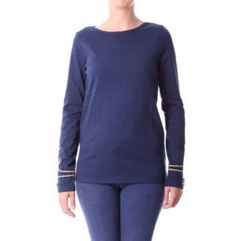 Textiel Dames T-shirts met lange mouwen Little Marcel T-shirt Tigalon H14IBF240 Bleu Blauw