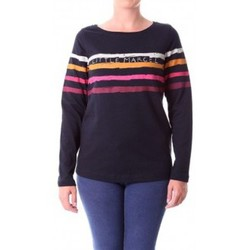 Textiel Dames T-shirts met lange mouwen Little Marcel T-shirt Tiprint Paint H14IBF190 Noir Zwart