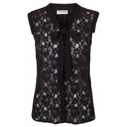 Textiel Dames Mouwloze tops Vero Moda Tina SL Top 10116974 Noir Zwart