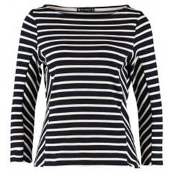 Textiel Dames T-shirts met lange mouwen Petit Bateau Marinière M7/8 1130549210 Bleu Blauw