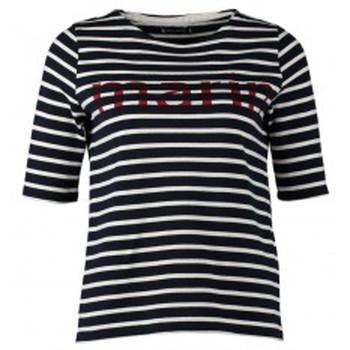 Textiel Dames T-shirts korte mouwen Petit Bateau Tee-shirt Marinière 1078949240 Bleu Blauw