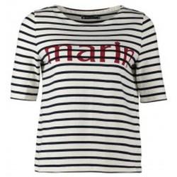 Textiel Dames T-shirts korte mouwen Petit Bateau Tee-shirt Marinière 1078949240 Blanc Wit