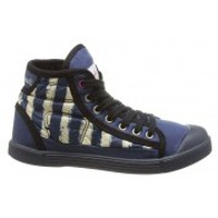 Schoenen Dames Hoge sneakers Little Marcel Baskets Samba Up Stripes Bleu Blauw