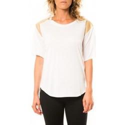 Textiel Dames T-shirts korte mouwen Coquelicot T-shirt CQTW14410 Blanc Wit