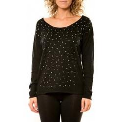 Textiel Dames Truien Vision De Reve Vision de Rêve Pull 12030 Noir Zwart