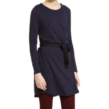 Textiel Dames Korte jurken Petit Bateau Robe Manches Longues 1062413210 Bleu Blauw