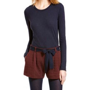 Textiel Dames T-shirts met lange mouwen Petit Bateau T-shirt Manches Longues 10622 13 Bleu Blauw